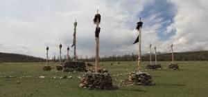 Pali sciamanici in Mongolia