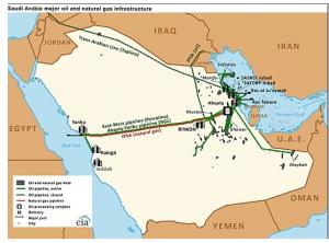 Le infrastrutture saudite sono concentrate