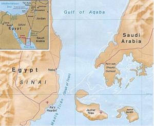 Le due isole cedute ai sauditi