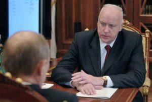 Il generale Bastrykin con Putin
