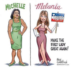 Anche la First Lady torna naturale