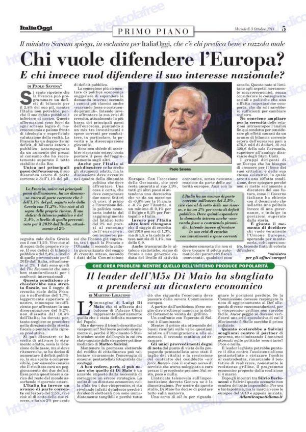 SAVONA: I VERI EUROPEISTI, E QUELLI FALSI