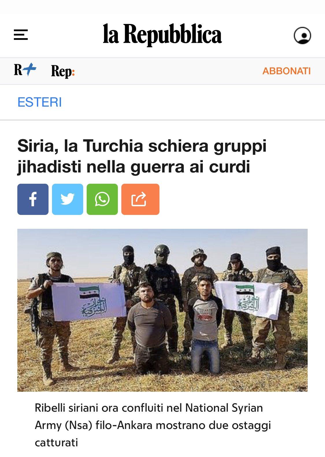 PER CAPIRE E RICORDARE  (mentre i media spargono lacrime sui curdi democratici)
