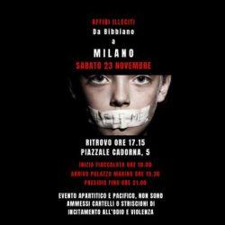 """CONTRO GLI AFFIDI """"MODELLO BIBBIANO"""" –  a Milano"""
