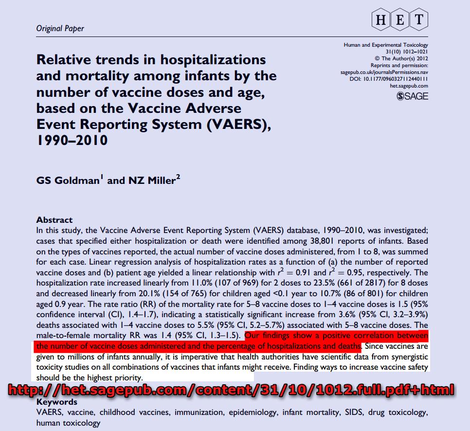 Maggiori le vaccinazioni, maggiore la mortalità infantile: Lo studio di Miller e Goldman