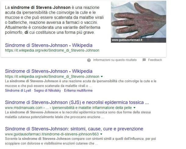 sindrome stevens johnson