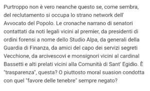 La Rete di  Conte .... in Vaticano
